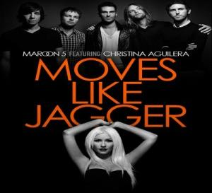 moves like jagger backing track in the style of maroon 5